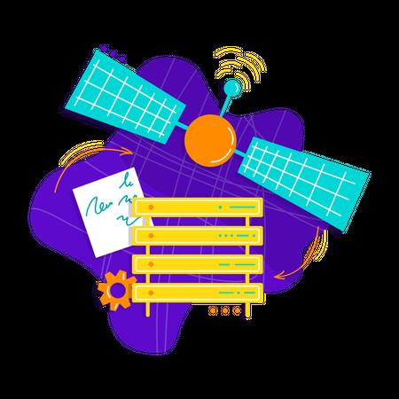 Cloud Server antenna Illustration