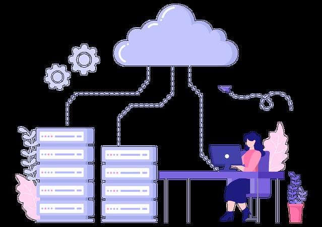 Cloud Server Optimization Illustration