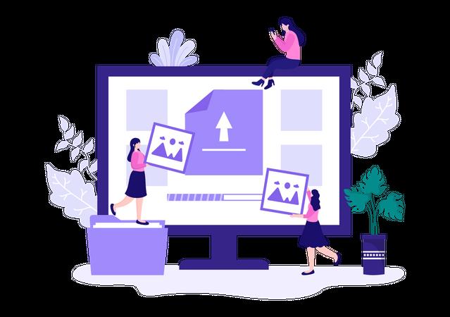 Cloud service Illustration