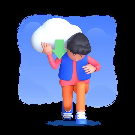 Cloud services download Illustration