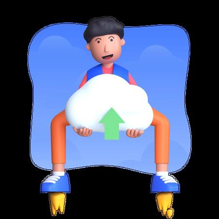 Cloud services upload Illustration