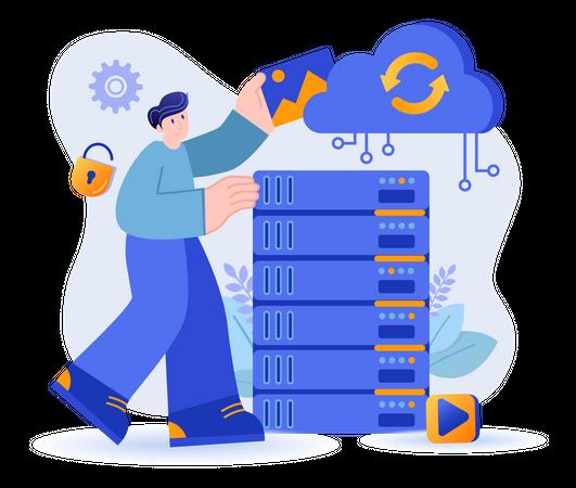 Cloud Storage Concept Illustration