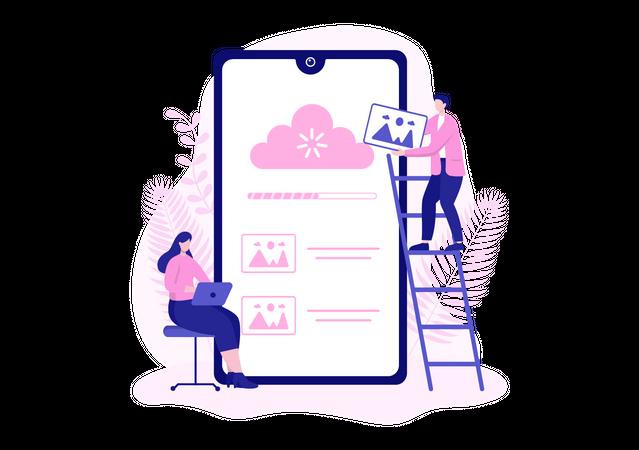 Cloud Storage service Illustration
