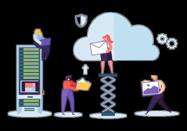 Cloud Storage Technology Illustration