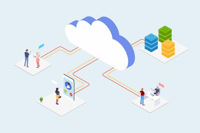Cloud Technology Utility Illustration