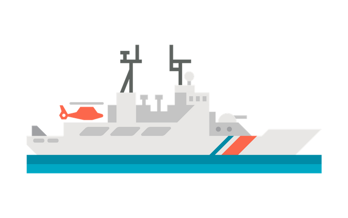 Coast Guard Ship Illustration