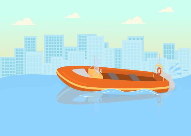 Coast guards boat Illustration