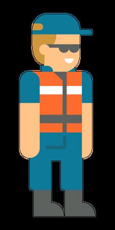 Coast security person Illustration