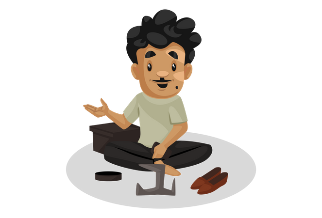 Cobble sitting on ground Illustration
