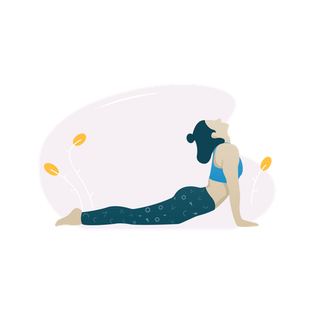 Cobra pose Illustration
