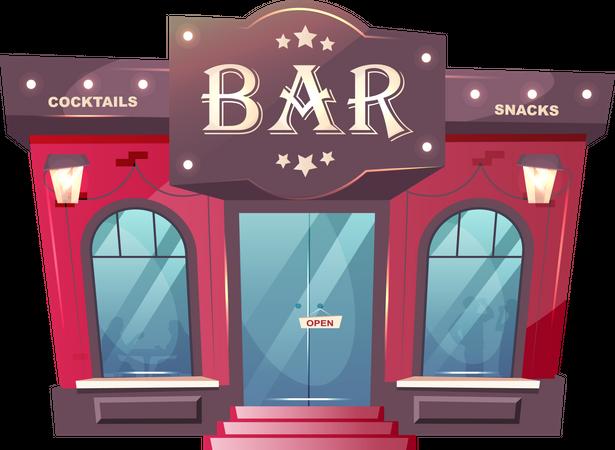 Cocktail bar Illustration