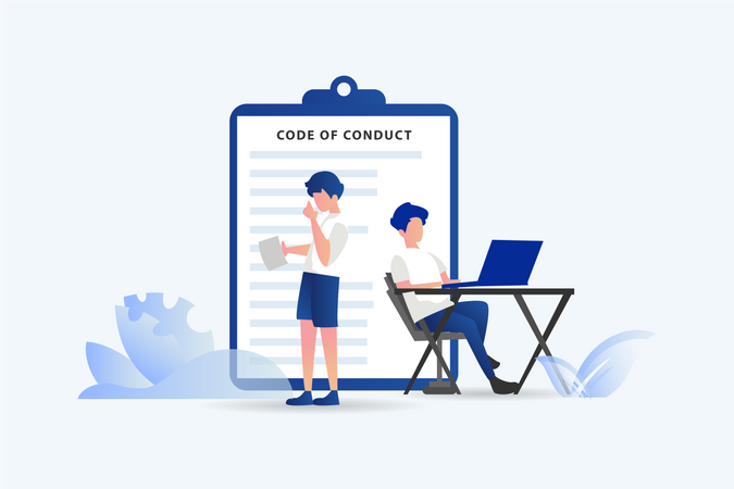 Code of conduct for business team Illustration