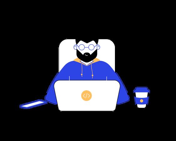 Coder Illustration