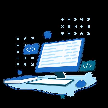 Coding Study Illustration
