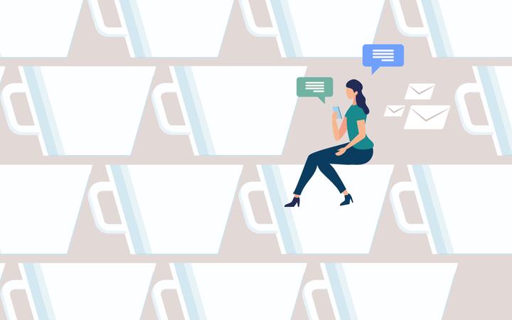 Coffee Break on Work Illustration