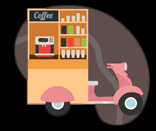 Coffee food truck Illustration