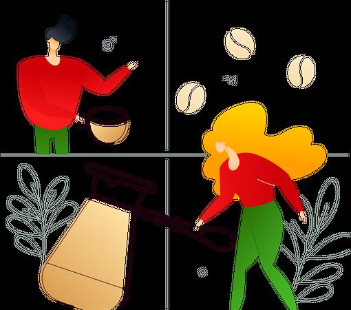 Coffee lovers Illustration