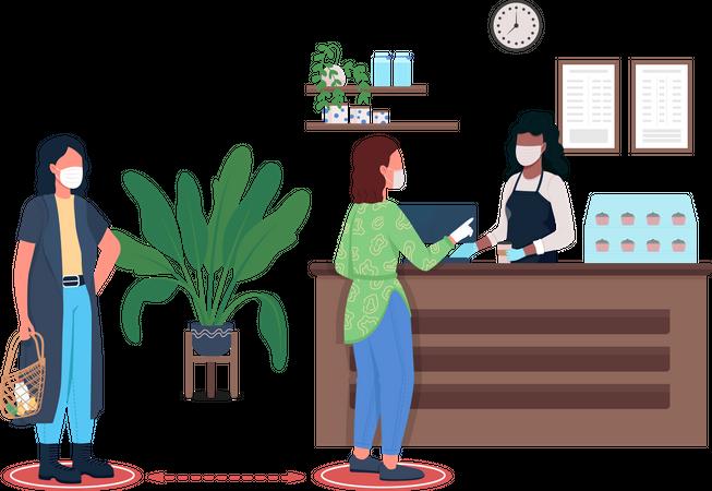 Coffee ordering Illustration