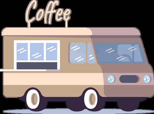 Coffee street truck Illustration