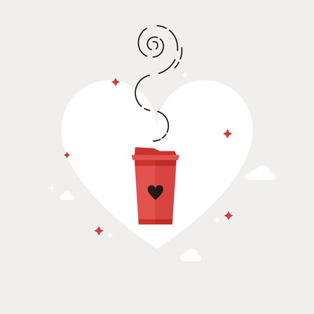 Coffee With Love Illustration