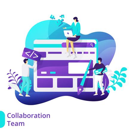 Collaboration Team Illustration Illustration