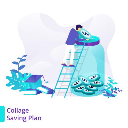 Collage Saving Plan Illustration