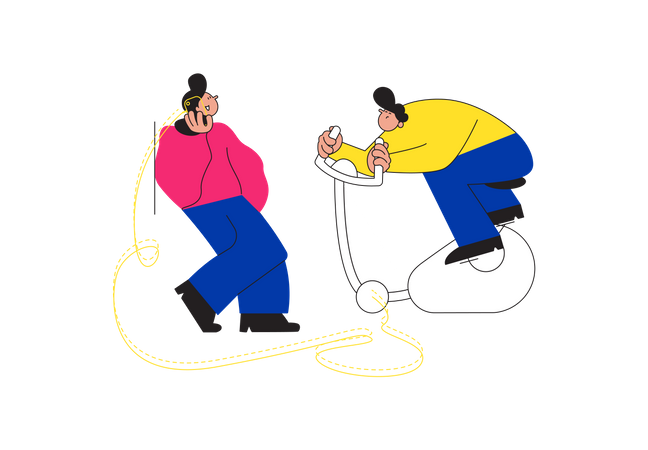 Colleague helping each other in work Illustration