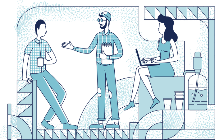 Colleagues at coffee break Illustration