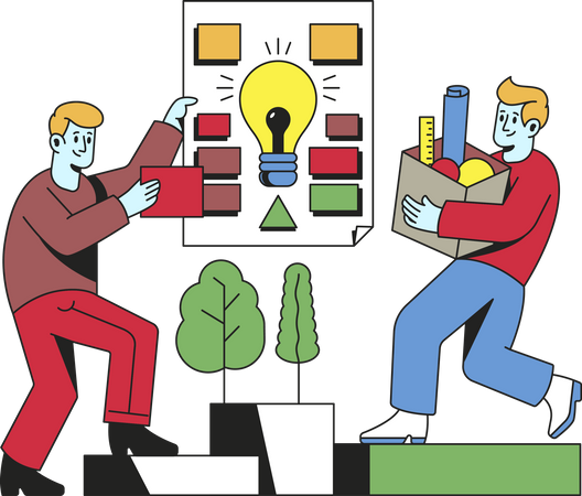 Colleagues working on an project Illustration