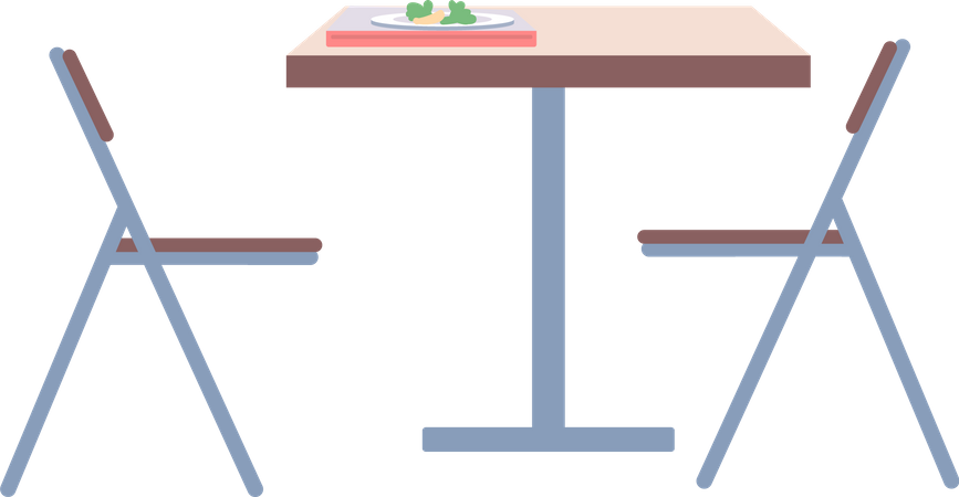 College cafeteria Illustration