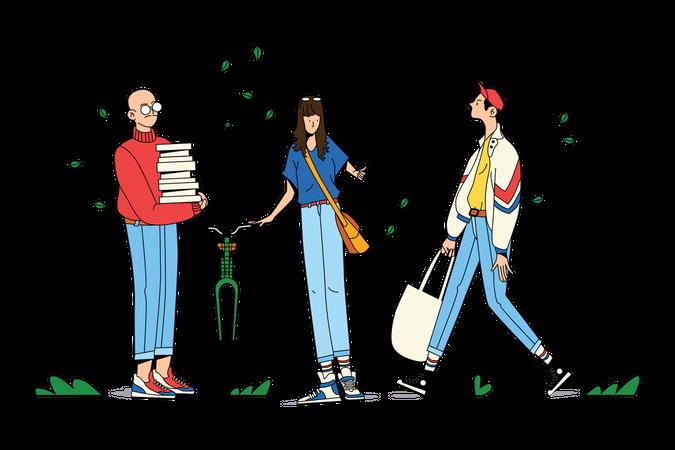 College Life Illustration