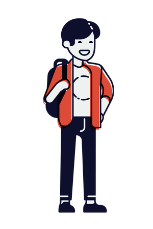 College student Illustration