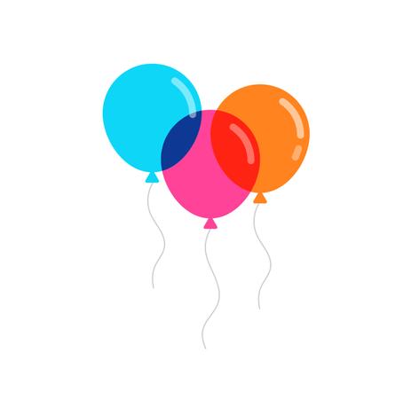 Colorful balloons vector illustration Illustration