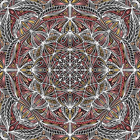 Colorful ornamental floral ethnic mandala Illustration