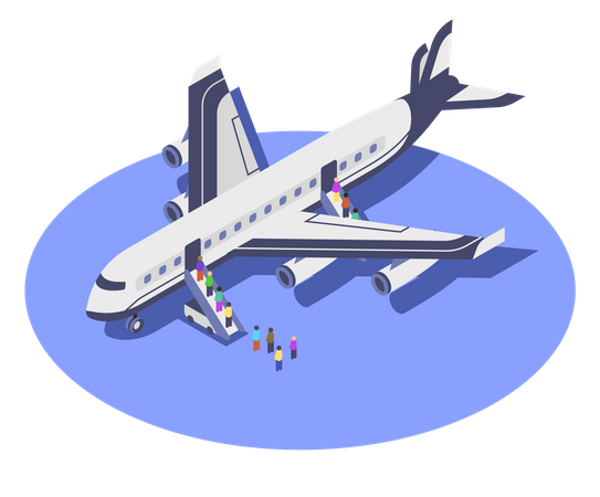 Commercial Airplane Illustration
