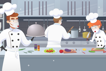 Cooking During Pandemic Illustration Pack