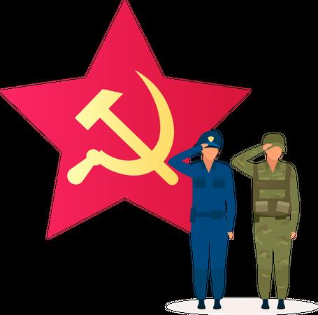 Communism political system Illustration