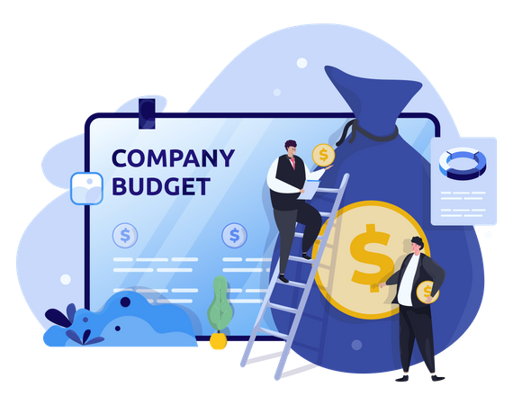 Company budget Illustration
