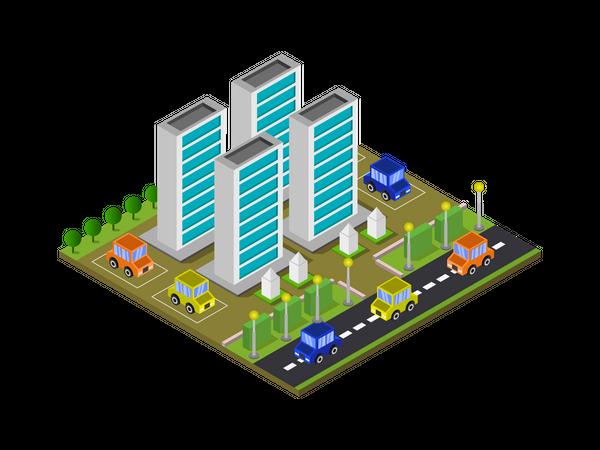 Company building Illustration