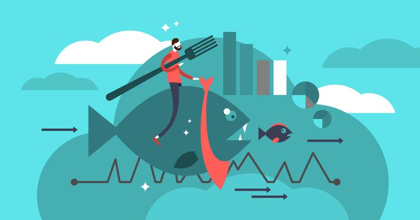 Company marketing basics to grow market share Illustration