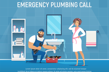 Plumbing Illustration Pack
