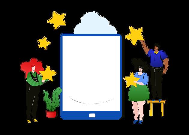 Company rating Illustration