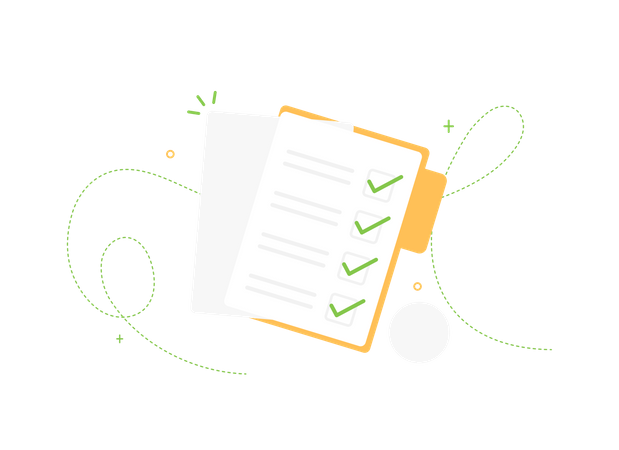 Completed task list Illustration