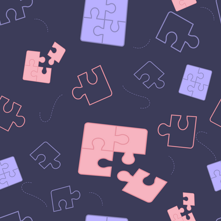 Components Puzzle pattern on Dark Background Illustration