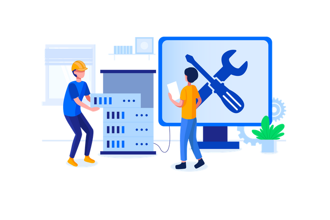 Computer hardware engineer Illustration