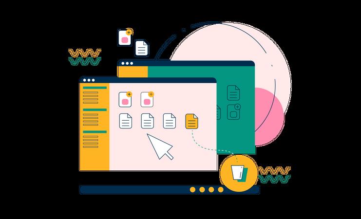 Computer system Illustration