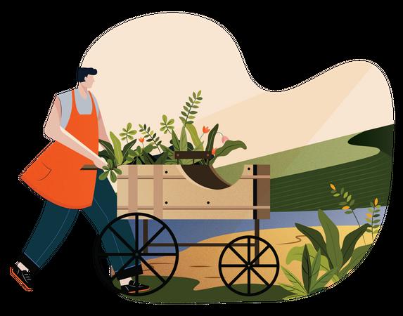 Concept based illustration of Go green Illustration