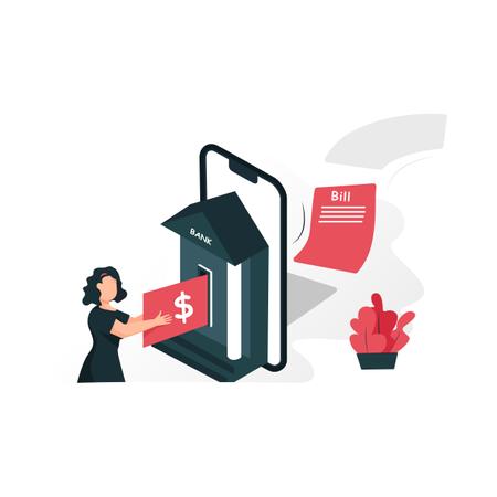Concept based illustration of net banking Illustration