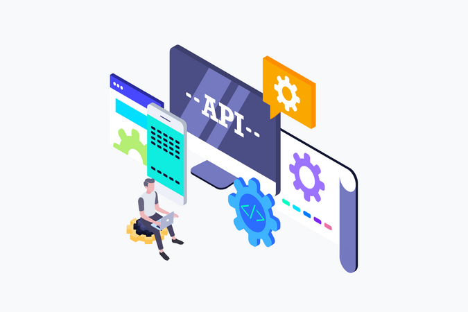 Concept Of Application Programming Interface Illustration
