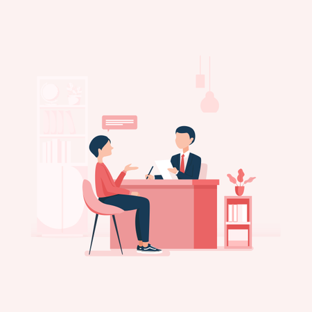 Concept of Businessman dealing with client Illustration